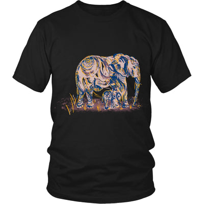T-shirt - Elephant Mom And Baby Tshirt
