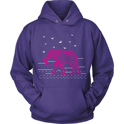T-shirt - Red Elephant Hoodie