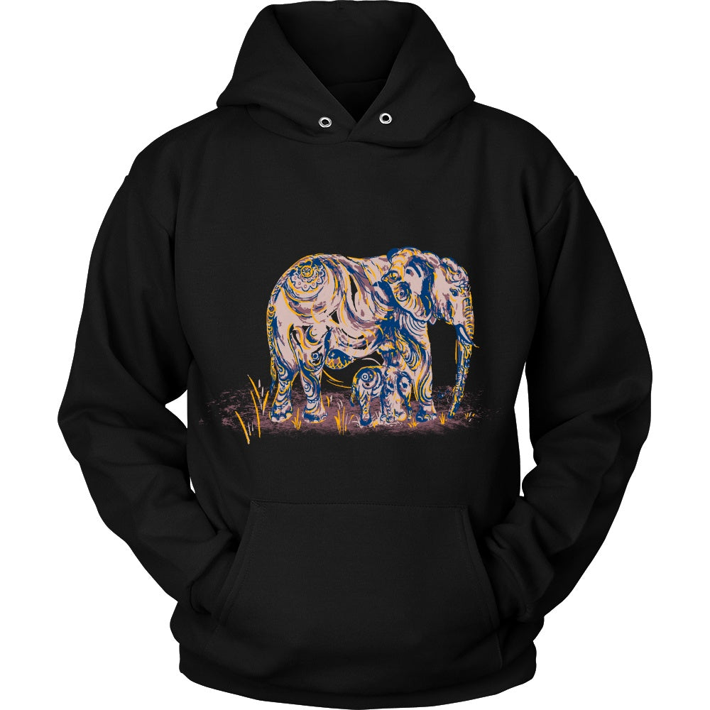 ae296af31 Elephant Mom and Baby Hoodie - Rescue The Elephants
