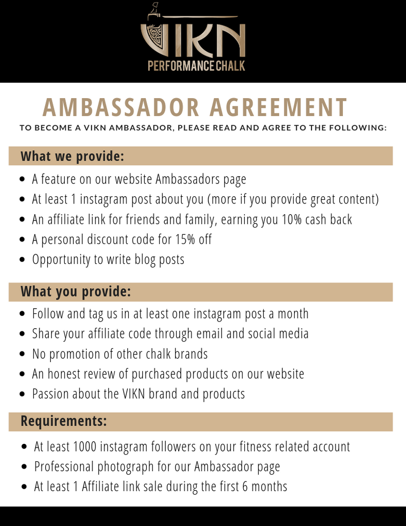 Ambassador Application – VIKN Performance