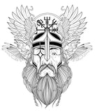 illustration of odin