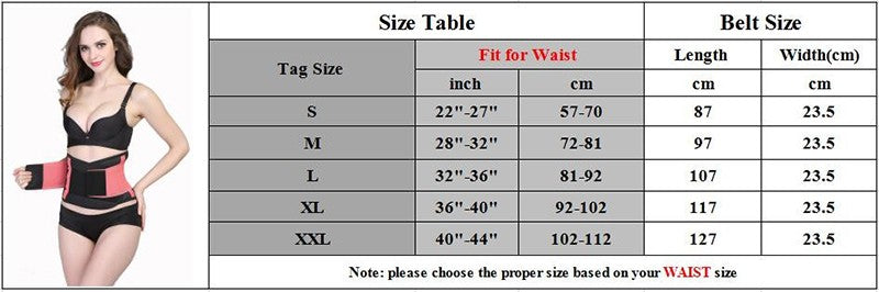 Shapewear Sizes