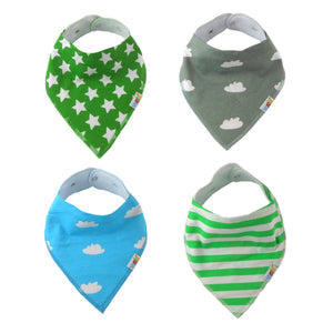 Baby Bandana Drool Bibs For Boys Trendy 4-Pack Gift Set by Veecka Ideal for Drooling and Teething