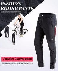 Spring & Autumn Men Cycling Pants Long Bike Pants Quick Dry Anti-sweat Breathable Pockets Bicycle Trousers Cycling Clothing