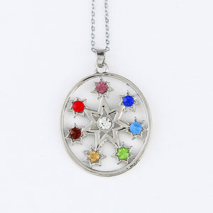 7 Chakra Crystals Meditation Necklaces