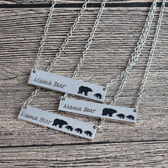 Mama Bear Necklace (Gold or Silver)