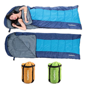 TOMSHOO  Envelope Sleeping Bag Camping Thermal Adult Outdoor Hooded
