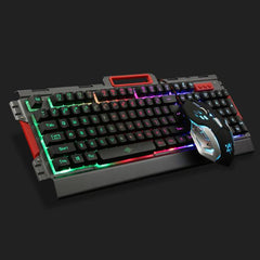 Gaming Keyboard + 6 Buttons Optical Gaming Mouse