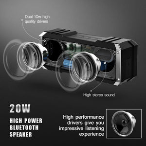 Portable Wireless Bluetooth 4.0 Waterproof Speaker with Mic, for Smartphones, Pc or Laptops