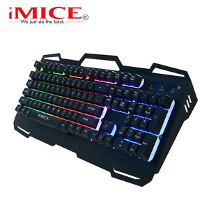 Keyboard Wired USB With 104 Keys Metal Panel Backlight