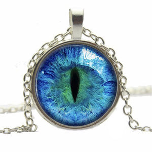 Beautiful Cat Eye Glass Necklace For Women.