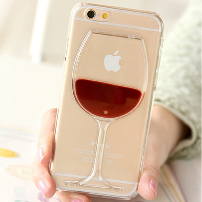 Red Wine Glass Phone Case For iPhone X 4 5S SE 6 6S 7 PLUS 8PLUS