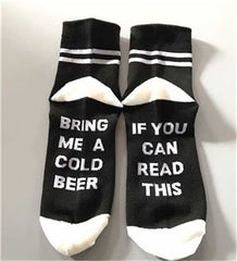 Funny socks for wine, beer and coffee lovers