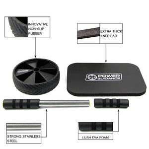 Ab Roller With Free Knee Pad - Great for Arms, Back & Core