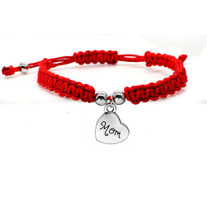 I Love You Mom Red Thread Bracelets