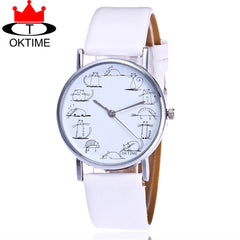 Lovely Cat WristWatch for Women. Leather Strap