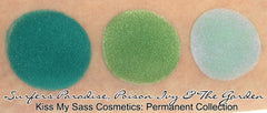 Kiss My Sass Cosmetics: Eyeshadow: The Garden