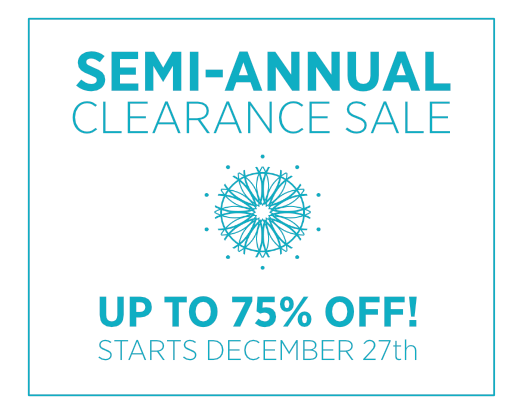Our semi-annual clearance sale is here!