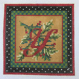 """Merry Christmas"" Blocks, Letter Y needlepoint canvas from Kelly Clark Designs"