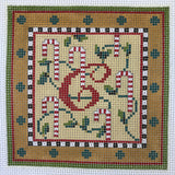 """Merry Christmas"" Blocks, Letter C needlepoint canvas from Kelly Clark Designs"