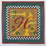 """Merry Christmas"" Blocks, Letter H needlepoint canvas from Kelly Clark Designs"