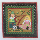 """Merry Christmas"" Blocks, Letter I needlepoint canvas from Kelly Clark Designs"
