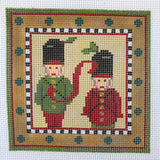 """Merry Christmas"" Blocks, Letter S needlepoint canvas from Kelly Clark Designs"