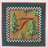 """Merry Christmas"" Blocks, Letter T needlepoint canvas from Kelly Clark Designs"
