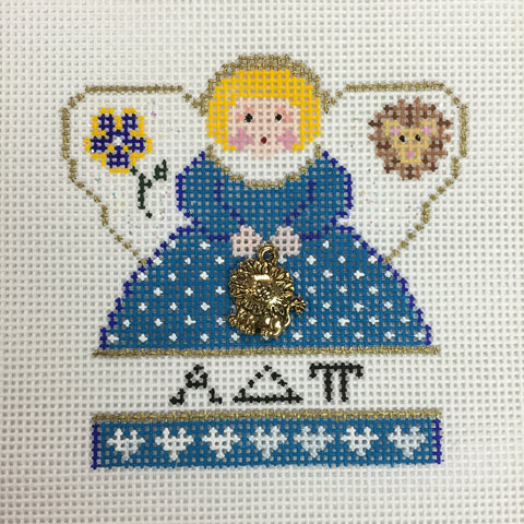 Alpha Delta Pi Angel with charm needlepoint canvas