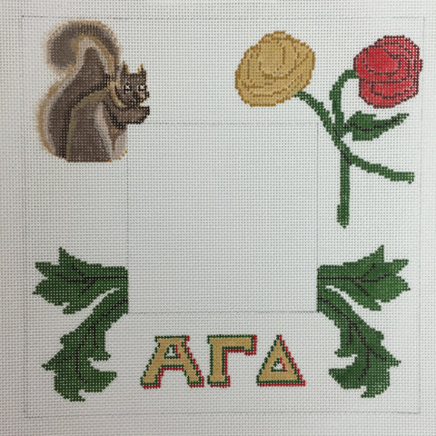 Alpha Gamma Delta Picture Frame needlepoint canvas