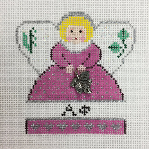 Alpha Phi Angel with charm needlepoint canvas