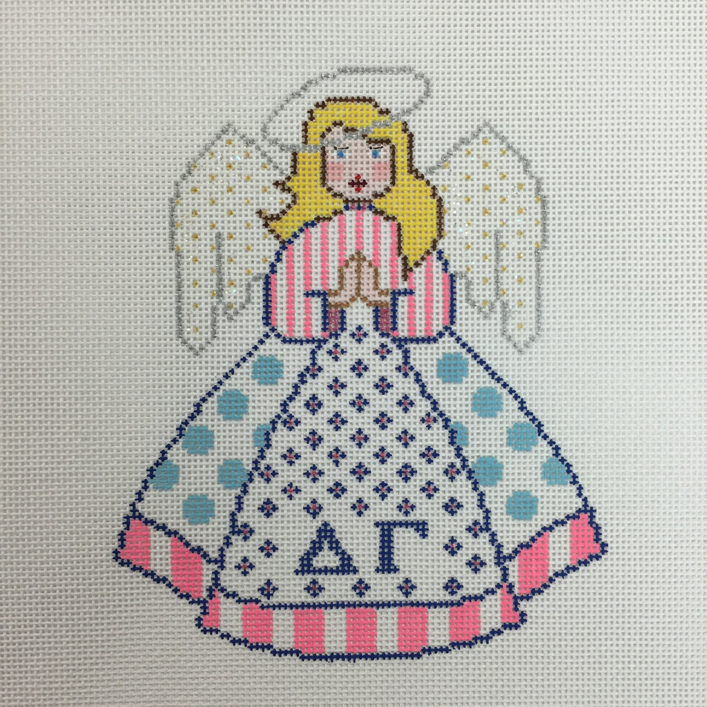 Delta Gamma Angel needlepoint canvas