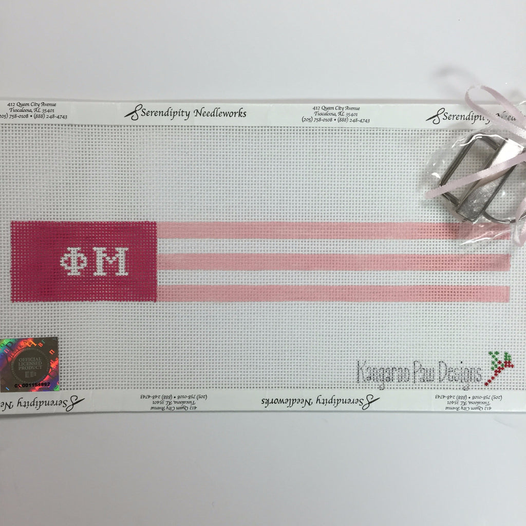 Phi Mu Colors Key Fob