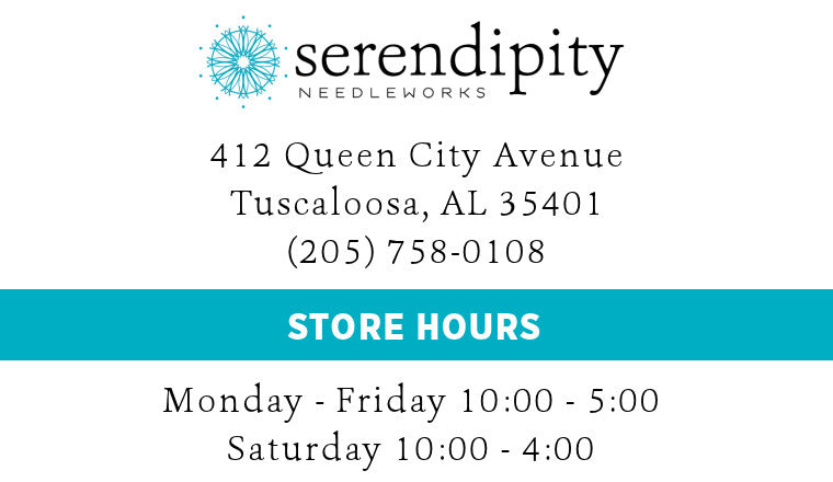 Serendipity Needleworks | 412 Queen City Avenue, Tuscaloosa, AL 35401 | 205-758-0108