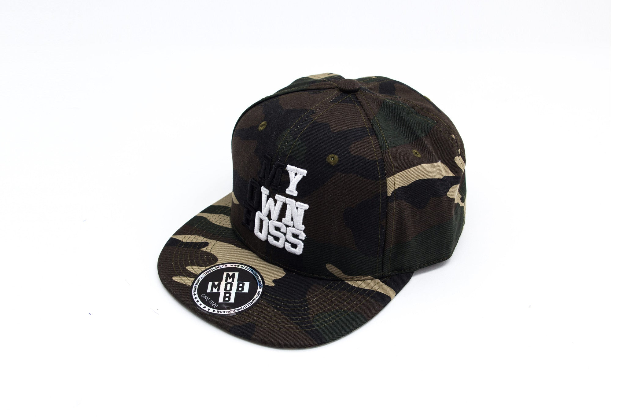 MY OWN BOSS SNAPBACK (CAMO)