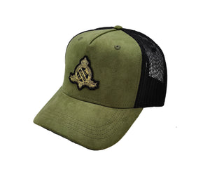 Royal X Emblem Trucker CAP (Olive)