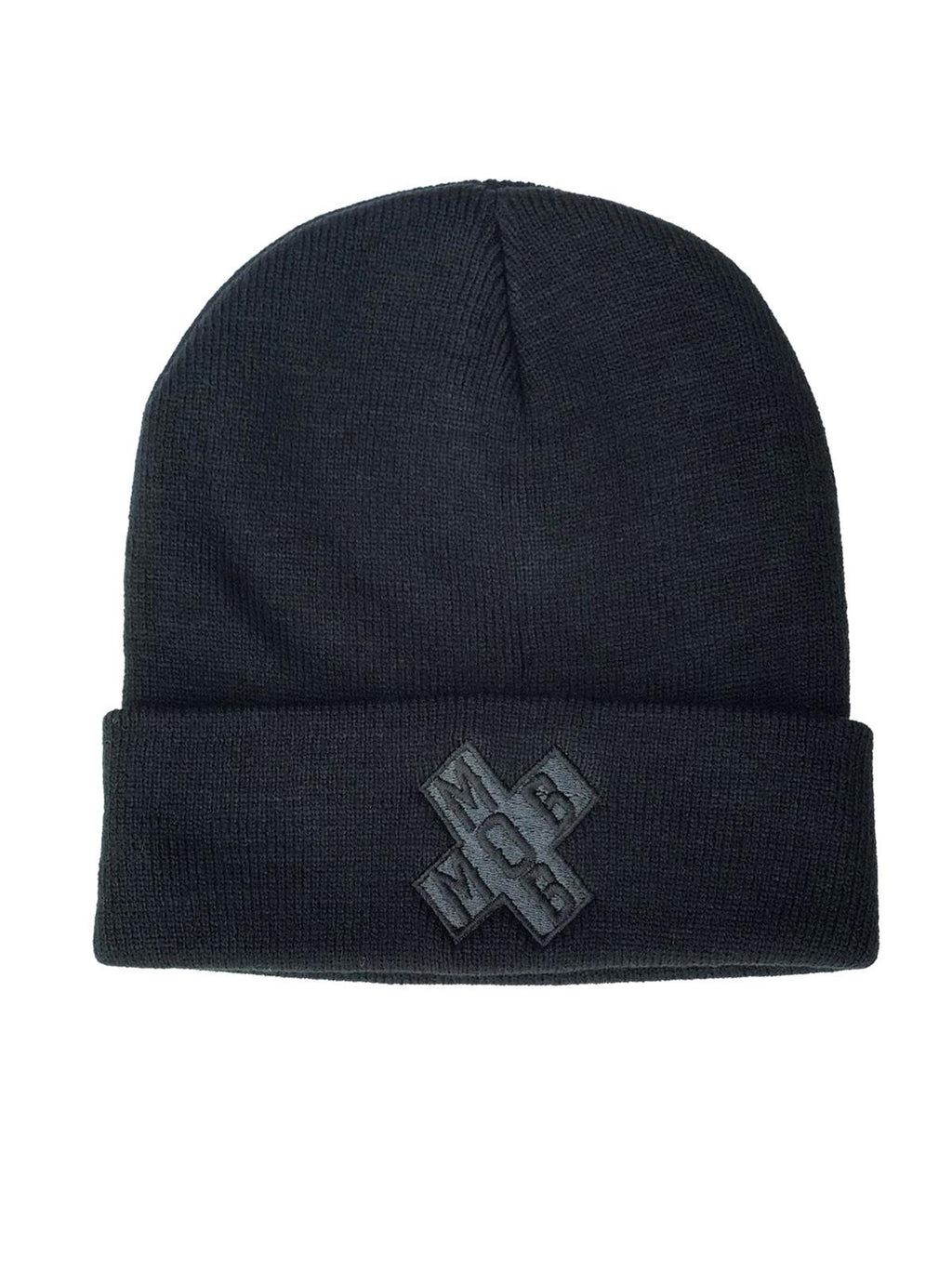SIGNATURE MOB BEANIE (BLACK ON BLACK)
