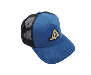 Royal X Emblem Trucker CAP (Cobalt Blue)