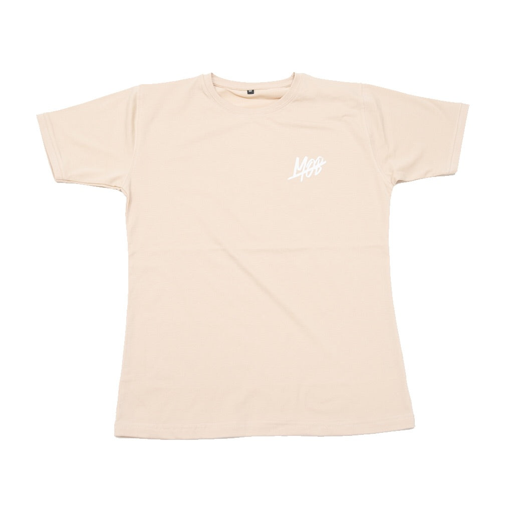 MOB SLASH TEE (BEIGE) SLIM FIT