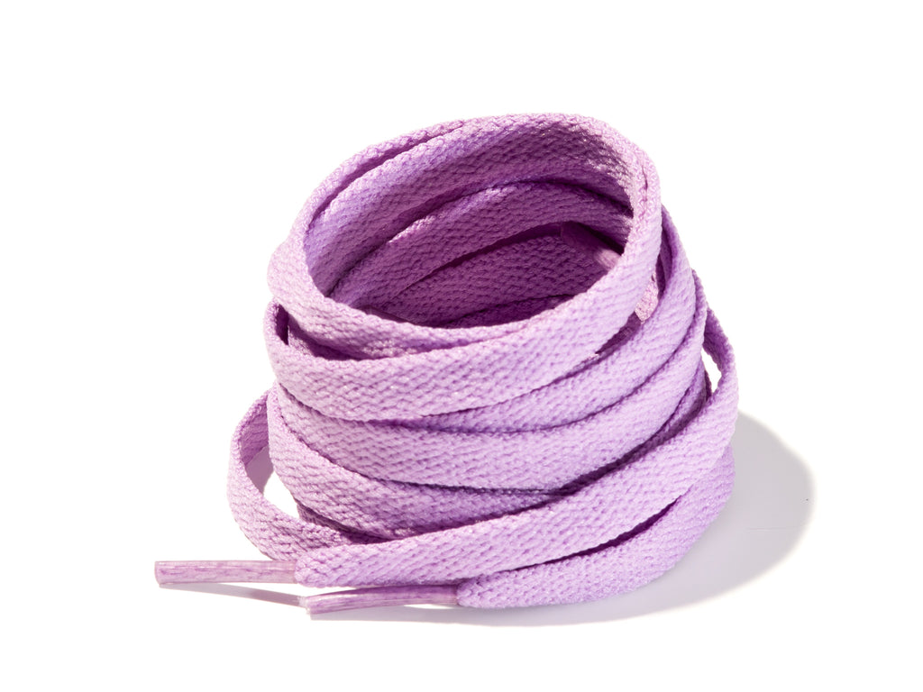 Violet 8mm Flat Solid Colour Laces