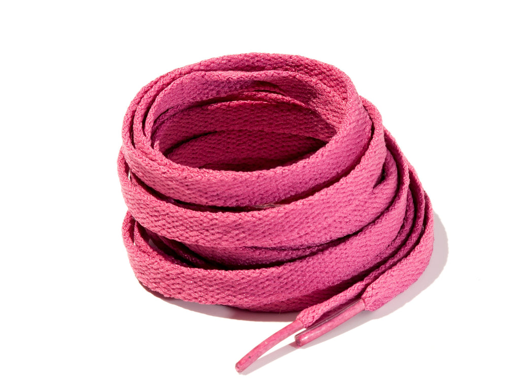Magenta 8mm Flat Solid Colour Laces