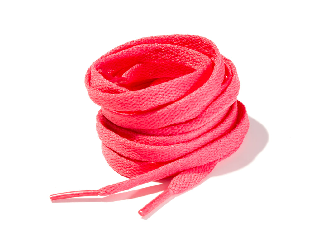 Fuscia 8mm Flat Solid Colour Laces