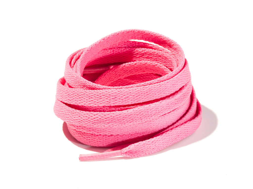 Watermelon 8mm Flat Solid Colour Laces
