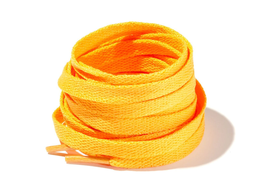 Golden Yellow 8mm Flat Solid Colour Laces