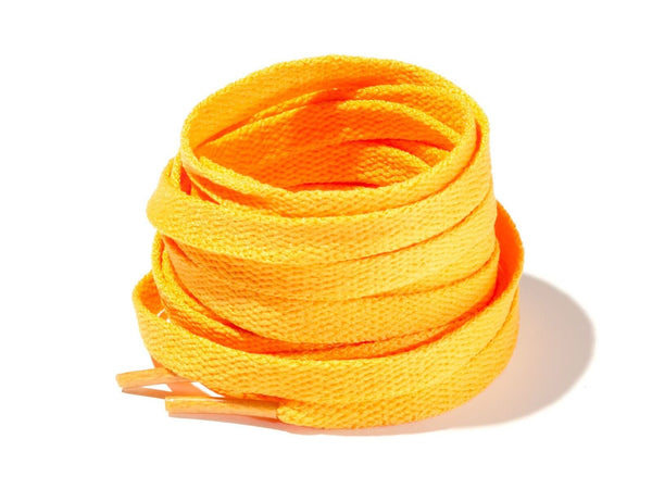 Jordan 1 Golden Yellow 8mm Flat Solid colour Laces