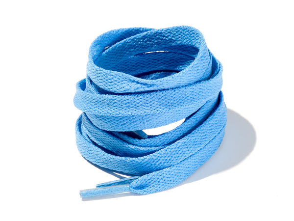 Sky Blue 8mm Flat Solid Colour Laces