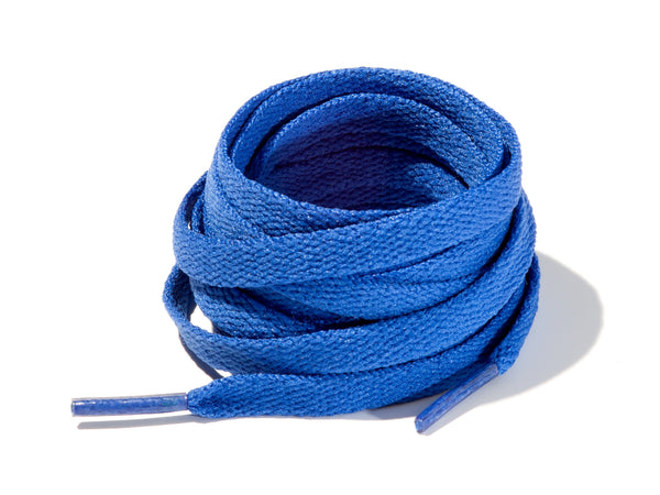 Royal Blue 8mm Flat Solid Colour Laces