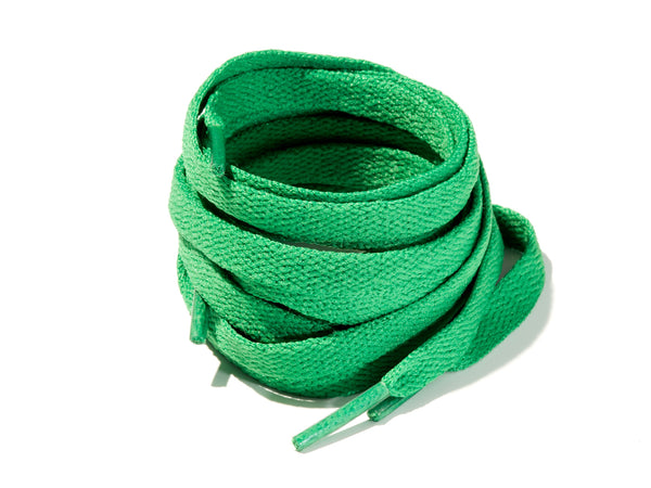 Dark Green 8mm Flat Solid Colour Laces