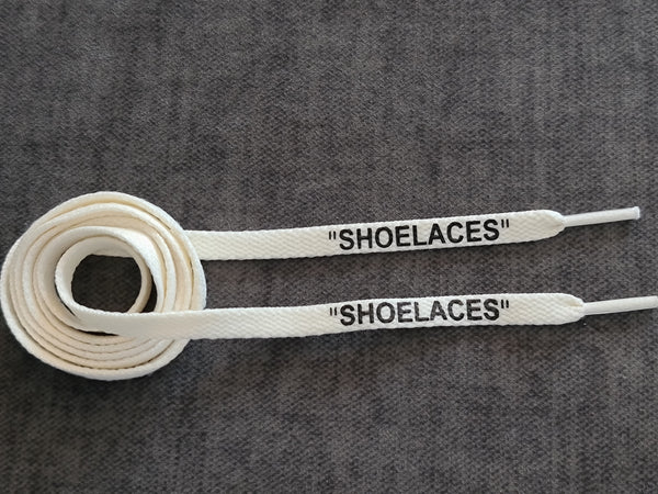 120cm Off-white 8mm Flat Vintage White Cream 'Shoelace'