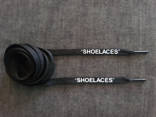 120cm Off-white 8mm Flat Black 'Shoelace'